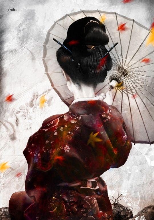 geisha-acquarello
